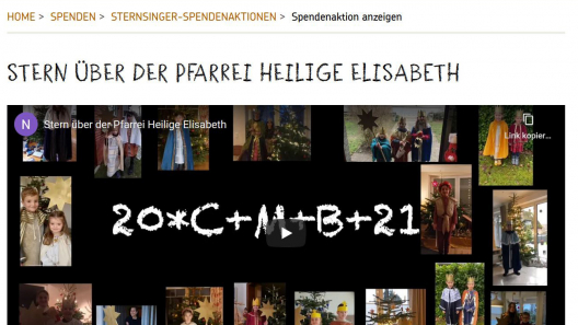 Sternsinger Video St. Elisabeth